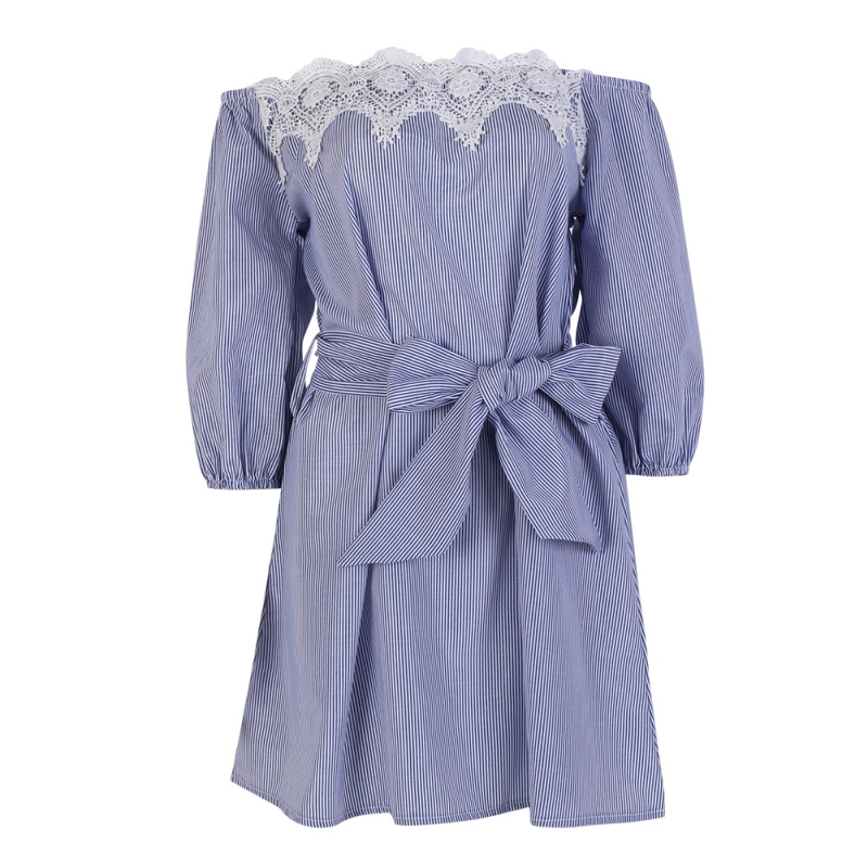 EFINNY летнее женское кружевное вечернее пляжное платье с открытыми плечами Короткое мини-платье