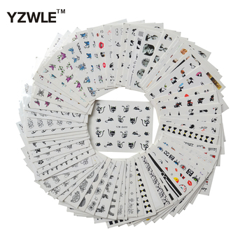 цена на YZWLE 68 Sheets DIY Decals Nails Art Water Transfer Printing Stickers Accessories For Manicure Salon