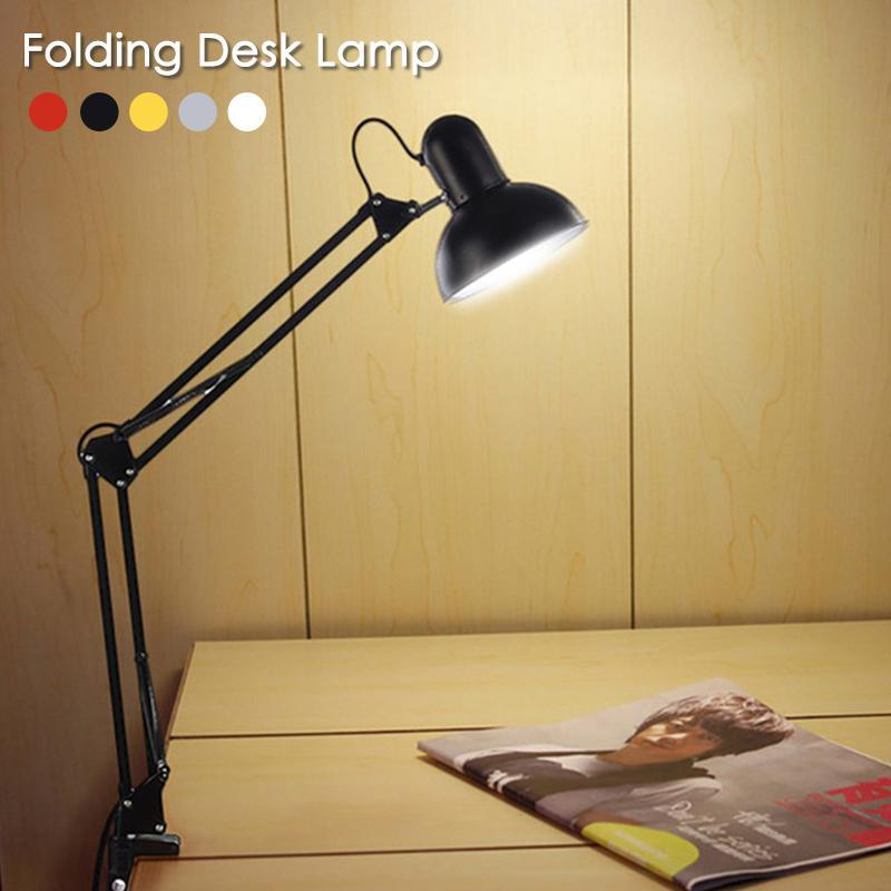 LED Table Lamp Long Swing Arm Clip Folding Desk Lamp Flexible Eye-Care Metal Multi-Joint Adjustable Home Office Reading Light S3 long swing arm adjustable classic desk lamps e27 led with switch table lamp for office reading night light bedside home