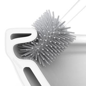 Image 5 - Youpin YJ 수직 저장 화장실 브러시 부드러운 접착제 Bristles 화장실 브러시 및 브래킷 세트 욕실 화장실 청소 도구