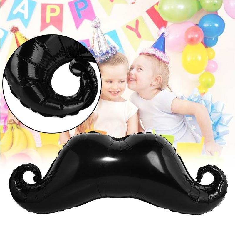 1 шт. маленький человек Baby Shower украшения шары усы Форма Бал Хэллоуин черная борода Рождественский шар детские игрушки поставляет