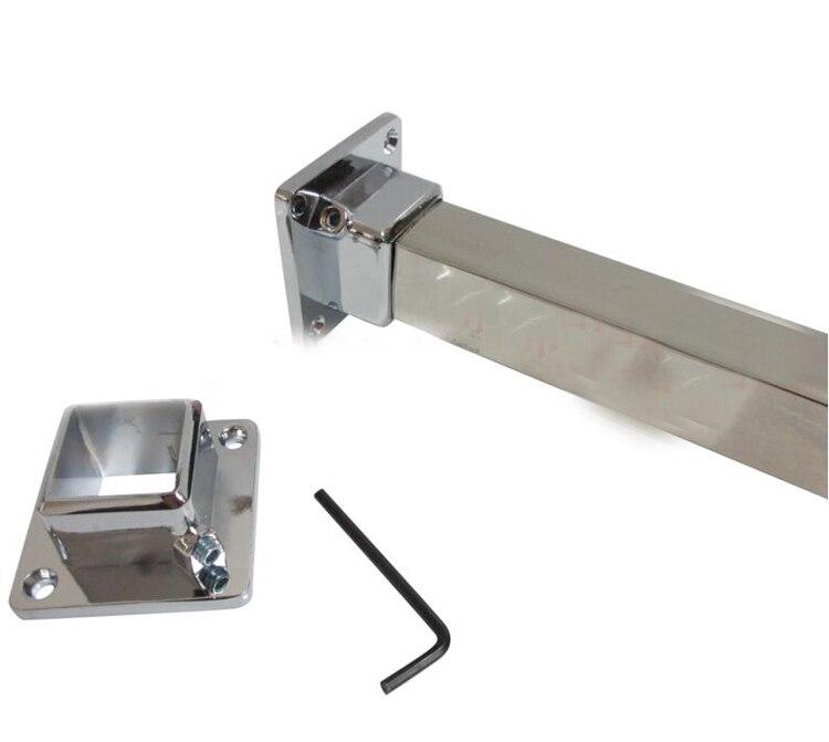 Staffa di supporto asta di supporto in acciaio inossidabile 5 pezzi Staffa di montaggio a soffitto con attacco flangia da 22 mm