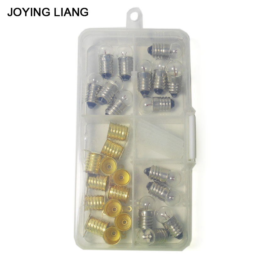 JOYING LIANG Mixed PACK 1.5V /2.5V / 3.8V 0.3A Light Beads Student Physical Electric Experiment Mini Lamp Small Bulb + Holder