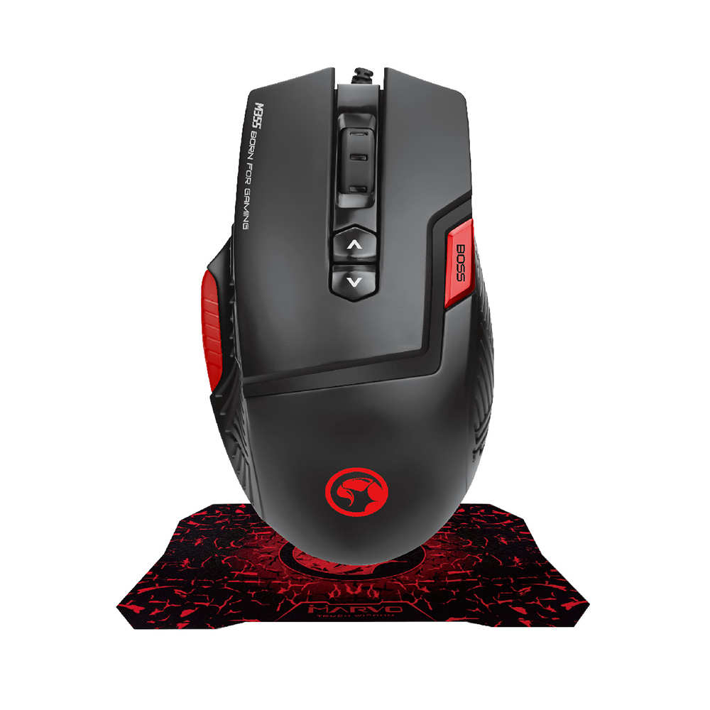 MARVO M355+G1 Gaming Mouse , Gaming Mouse Pad Wired Mouse,Optical Ergonomic Mice and Mouse Pad