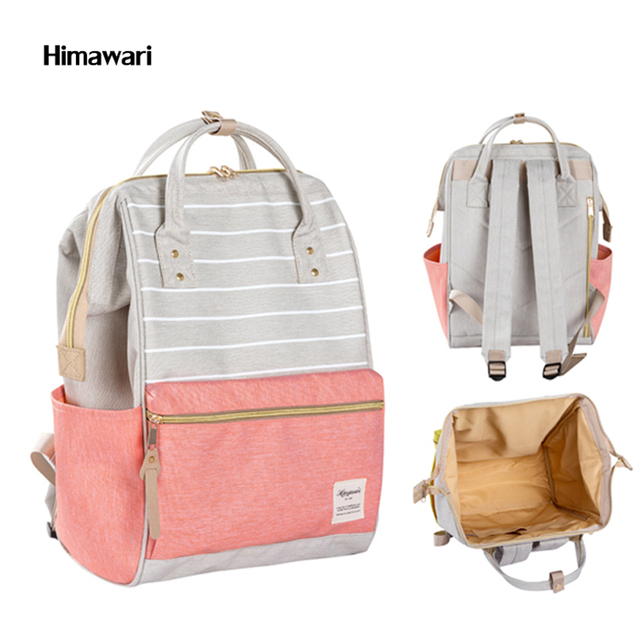 Himawari Brand Cute Striped women backpack waterproof Casual large ...