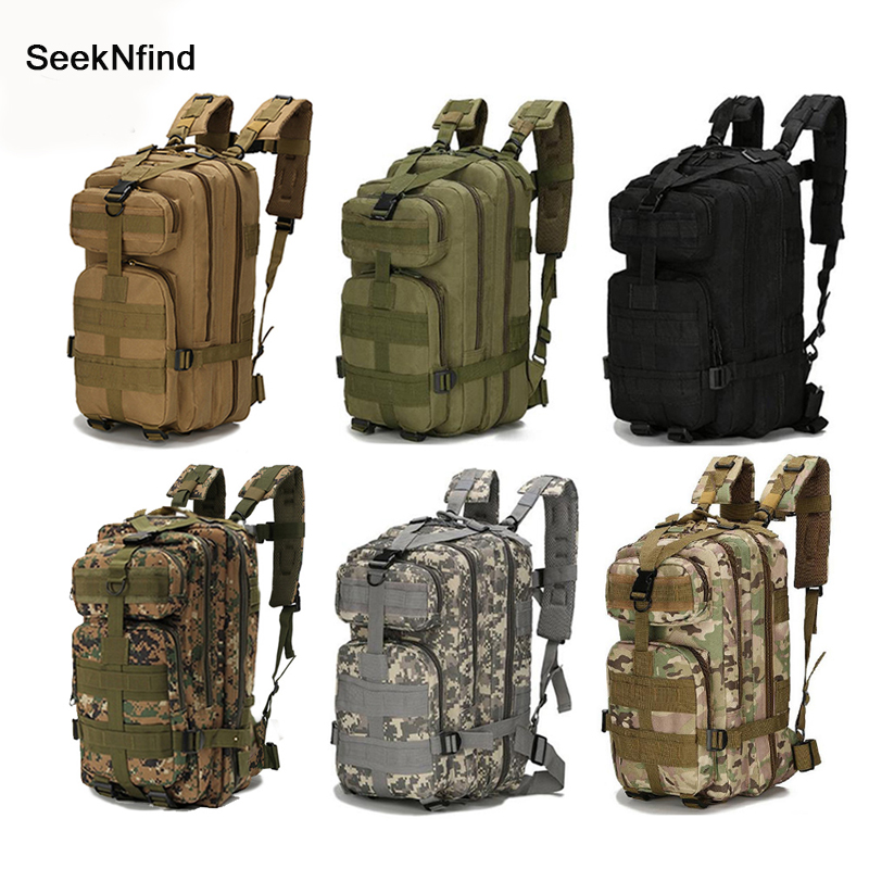 1000D Nylon Tactical Military Backpack Waterproof Army Bag Outdoor Sports Rucksack Camping Hiking Fishing Hunting 30L Bag