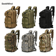 1000D naylon taktik askeri sırt çantası su geçirmez askeri çanta açık spor sırt çantası kamp yürüyüş balıkçılık avcılık 30L çantası