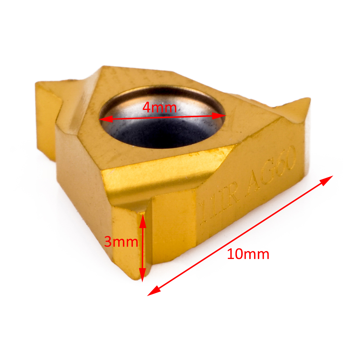1pc Carbide Insert 11IR AG60 Cemented Cutter Mayitr For Threading Turing Tool Holder Boring Bar