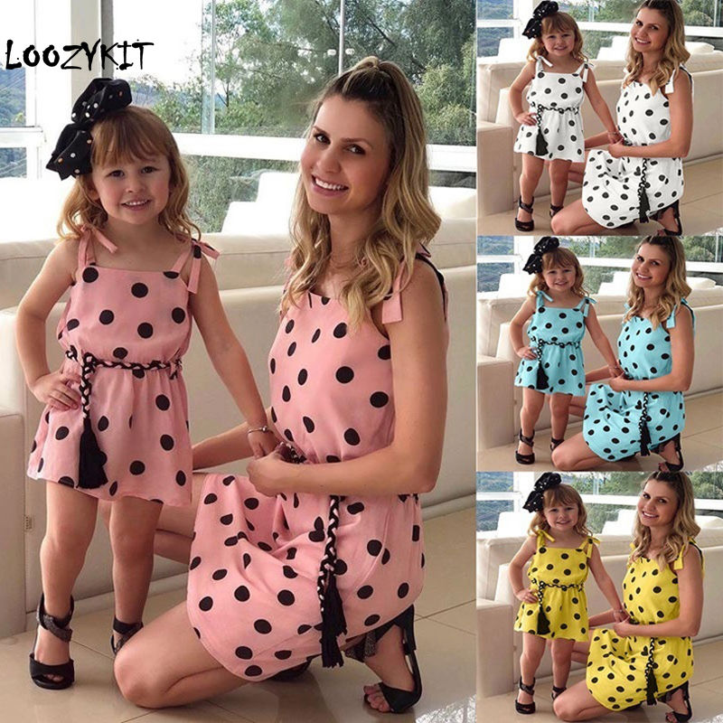 e479aca42af27 Hot Deal] Summer Family Matching Mother Daughter Floral Print ...