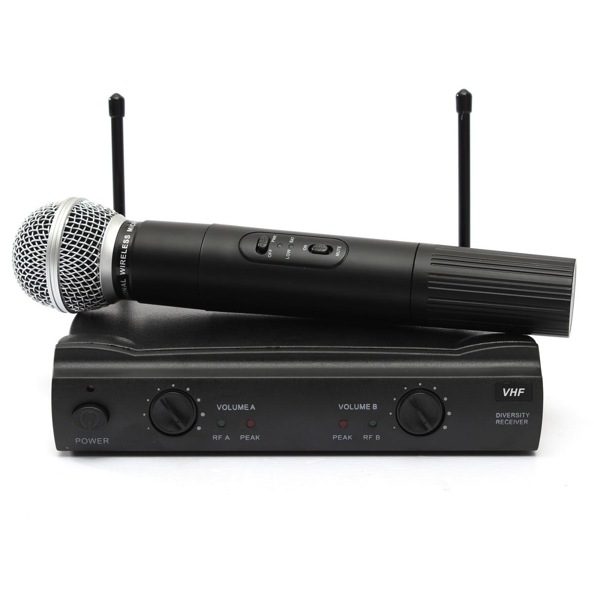 LEORY système de Microphone sans fil karaoké professionnel avec connecteur et récepteur Microphone à condensateur double micro pour le chant KTV - 6