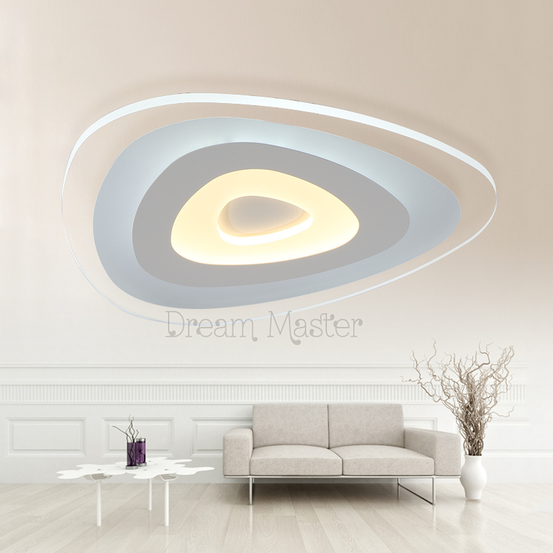 Ultra thin ceiling light romantic creative circular led master bedroom room modern living room light 110 220v free shipping