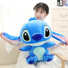 лучшая цена 35/45/55cm Famous Kids Toy Kawaii Stitch Plush Doll Toys Anime Lilo and Stitch Cute Stich Toys for Children Kids Birthday Gift