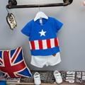 Summer Baby Boy Clothes Kids Pentacle Clothes Sets T-shirt Shorts Suit Clothing Star Printed Clothes 2pcs Sport Suits CE522