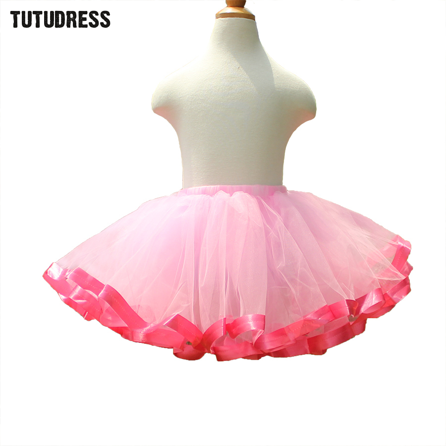 Cute Tutu Skirt Girl Kids Fluffy Tulle Skirt Children Princess Pettiskirt Pink Ballet Tutus Girls Skirts Fashion Ball Gown 2-12Y