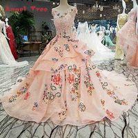 Vestido Longo De Festa Flowers Lace Gowns Evening Dresses 2018 Real Photos Vestidos De Festa Vestido