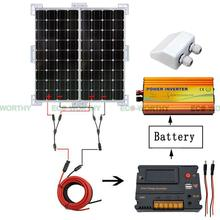 200W 2*100W 12V Mono Solar PANEL With CMG solar charger intelligent controller