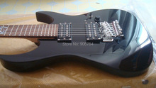 black guitar 7 strings electric guitar free shipping instock rosewood fretboard heavy sound guitar bass guitar