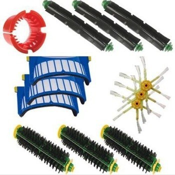 3 side Brush +1 Clean Tool +3 AeroVac Filters kit for iRobot Roomba 500 552 551 560 528 570 56708 etc.Vacuum Cleaner Accessories холодильник side by side samsung rs 552 nrua9m wt