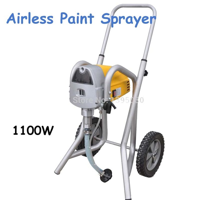 1100W Electric Airless Paint Sprayer with English Manual in Yellow 110V/220V Sprayer ST-119