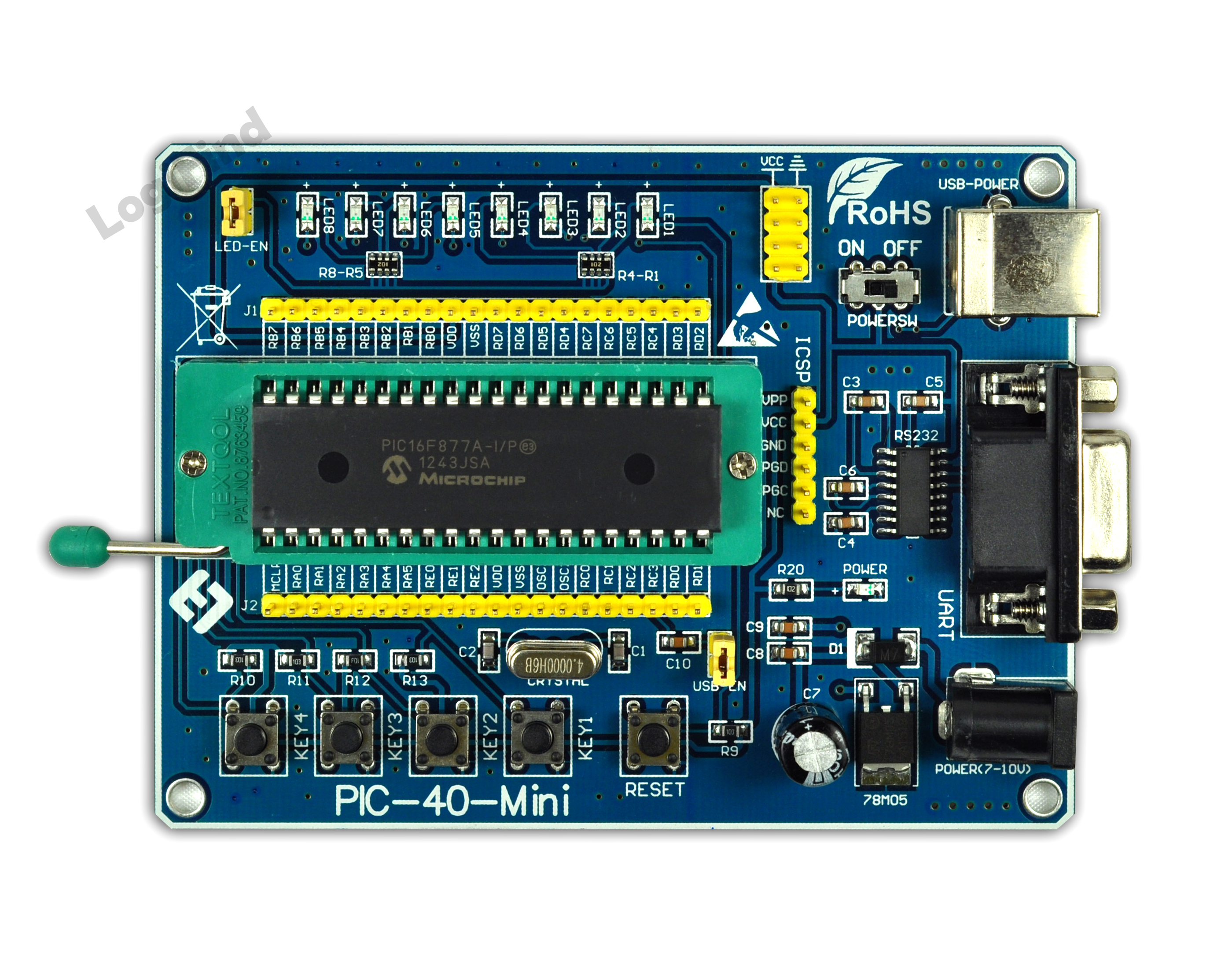 PIC Development Board /PIC Learning Board /PIC-40-MINI with PIC18F4550 Chip USB Development футболка женская roxy russiancrew j tees palace blue