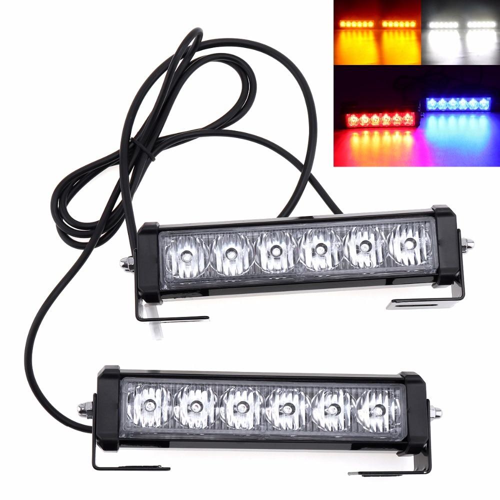 36W DC 12V 3000Lm Strobe Car Warning Light LED Daytime Running Police Emergency Light for Truck / Motorcycle / Car / SUV