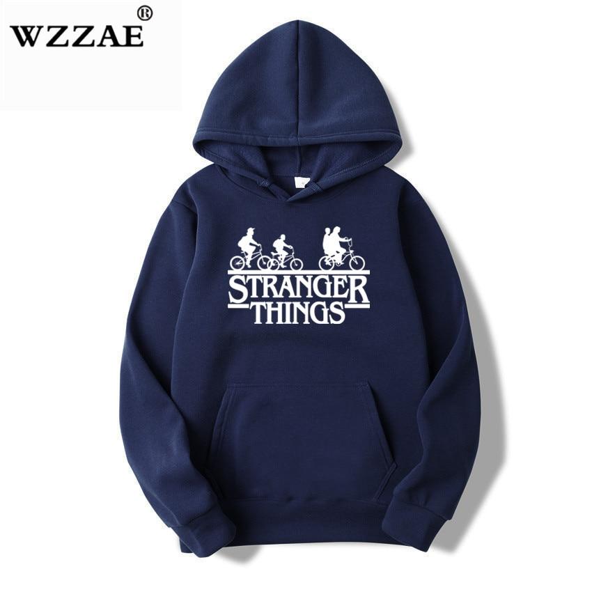 Trendy Faces Stranger Things Hooded Hoodies and Sweatshirts 30