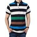 2017 летний стиль мужская с коротким рукавом Polo рубашка бренд мужской полосатый небольшой лацкан мужская повседневная мужская Polo shirts 28hfx