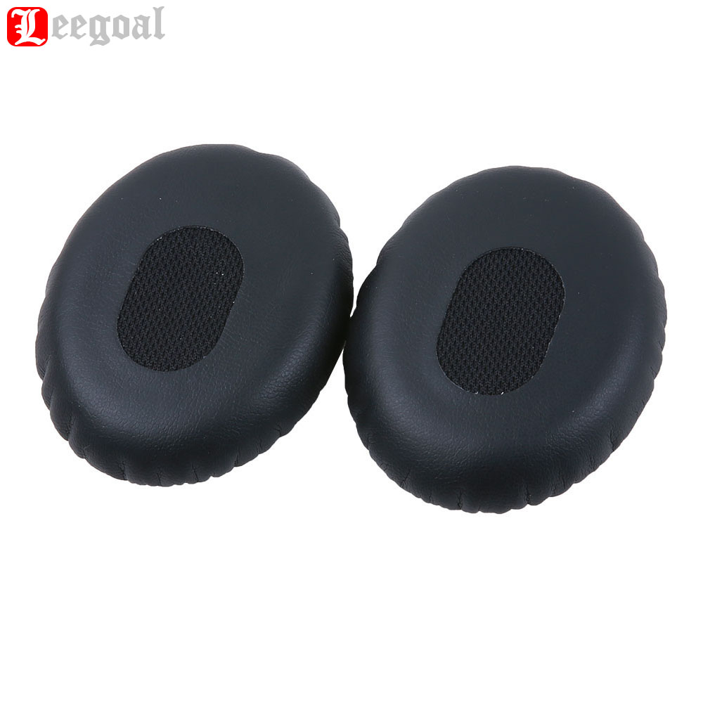 1 Pair Replacement PU Leather Memory Foam Earpad Ear Pad Cushion For Bose QC3/OE/ON-EAR/OE2 Headphones(Black) Ear Pads