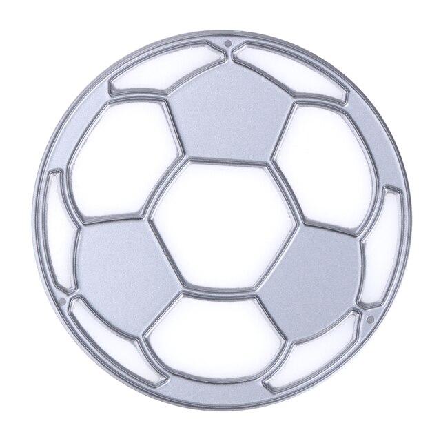 Football Design Cutting Dies Stencils for DIY Scrapbooking/photo album Decorative Embossing DIY Paper Cards 6.5*6.5cm
