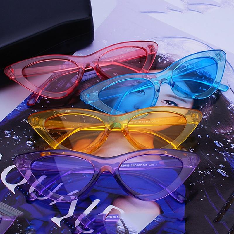 FS YURI YUAN Candy Kleuren Zonnebril Voor Vrouwen Cat Eye Zonnebril - Kledingaccessoires
