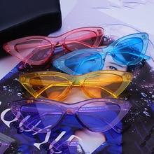 Fs يوري يوان كاندي الألوان نظارات شمسية للنساء القط العين النظارات ماركة مصمم الأزياء النسائية النظارات بارد uv400 gafas دي سول