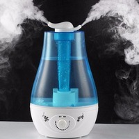 Stylish Design Double Spray Air Humidifier 3L LED Aroma Diffuser Ultrasonic Humidifier for Home Mist Maker Fogger EU Plug