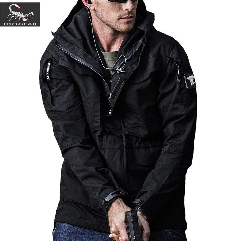 IDOGEAR M65 UK US Army Clothes Tactical Windbreaker Men Winter Autumn Waterproof Flight Pilot Coat jacket
