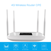 4G LTE Wifi Router 300Mbps Wireless CPE Mobile WiFi up to 32 wifi Users widely wifi Coverage with SIM Card Slot for Home/Outdoor