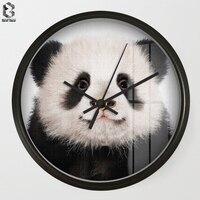 Chic Art Wall Clock Panda For Kids Room Wall Decor, Table Decorative Mute Quartz Clocks Nordic Saat Nursery Home Decoration