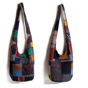 Image 3 - Винтаж хиппи Сумка в стиле бохо Для женщин сумка через плечо сумки хлопок Для женщин Сумки книги школьная сумка дорожная сумка мешок