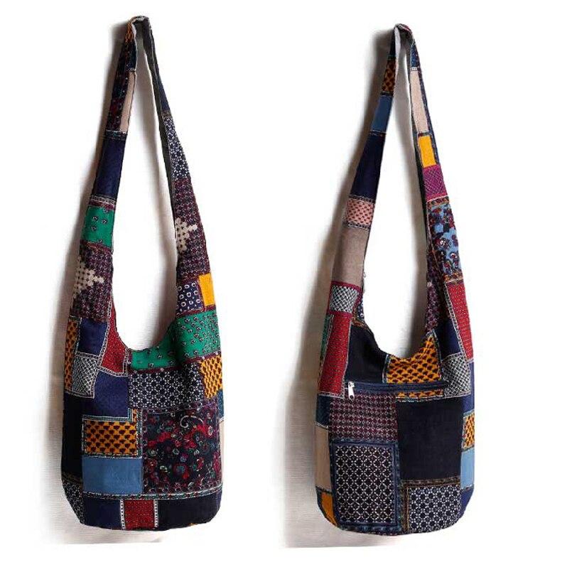 Image 4 - Vintage Hippy Hippie Bohemian Bag Women Shoulder Crossbody Bags Cotton Womens Handbags Books School Travel Bucket Baghandbag mediumbag labelhandbag frame -