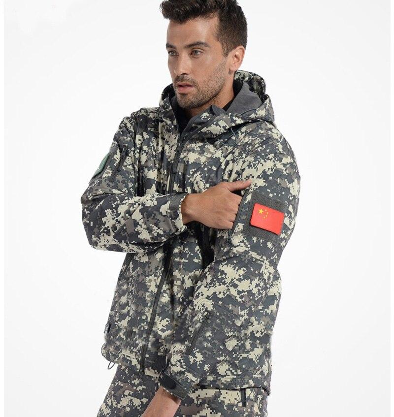 Men Tactical Gear Shark Skin Softshell Outdoor Jacket Military Pants Waterproof Army Camouflage Hoody Hunting Hiking