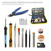 60w Soldering Iron Tin Set 220v 23pc Soldering Kit Multimeter Cautin Soldeerbout Saldatore A Stagno Lehim Havya Fer A Souder