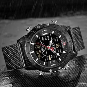 Image 4 - 新しい NAVIFORCE 男性腕時計トップの高級ブランドメンズデュアルディスプレイ軍事スポーツ男性のファッション防水クォーツ腕時計