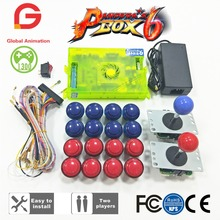 цена на Original Pandora Box 6 1300 Games Set DIY Arcade Kit Push Buuttons Joysticks Arcade Machine Bundle Home Cabinet With Manual