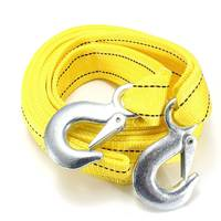 4Meters 5 Tons Car Tow Cable Heavy Duty Towing Pull Rope Strap Hooks Van Road Recovery