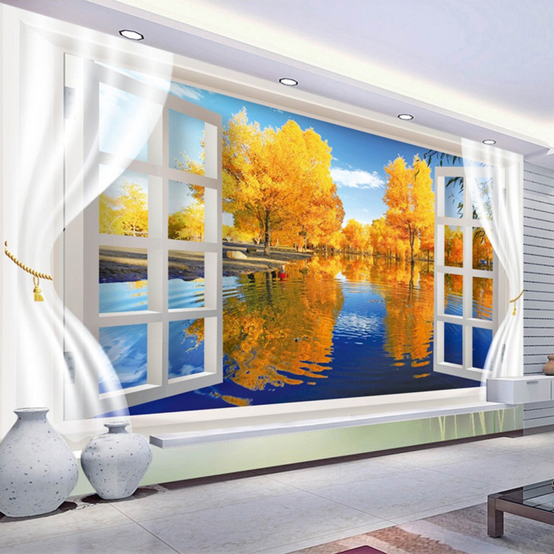 Custom Wallpaper Murals 3D Stereoscopic Space Mural De Parede Living Room Bedroom Wall Paper Non-woven Wallpaper For Walls 3D