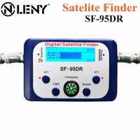 Onleny Digital Satellite Finder SF-95DR Meter Satlink Receptor TV Signal Receiver Sat Decoder DVB-T2 Satfinder