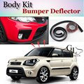 Bumper Lip Deflector Lips For KIA Soul Front Spoiler Skirt For TopGear Friends Car Tuning Veiw / Body Kit / Strip
