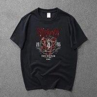 2017 New Summer T Shirts SLIPKNOT Play Band Heavy Metal Band Rock T Shirt Men And