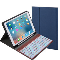 iPad Detachable Keyboard Backlight Case Smart Cover 9.7 2017/2018 Pro Air 2/1 2#M