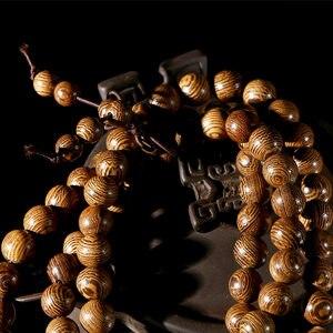 Image 3 - Buddhist 108 Beads Bracelet Meditation Rosary Bracelet Wooden Unique Prayer Beaded Women Men Lucky Bangles Bracciali