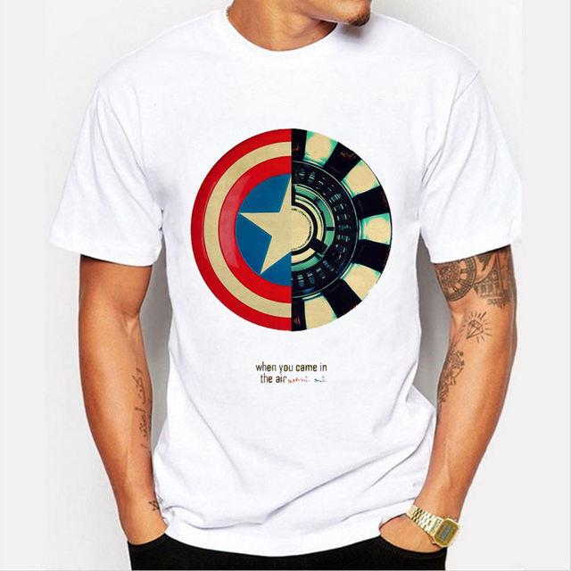 CAPTAIN AMERICA'S SHIELD T-SHIRT (3 VARIAN)