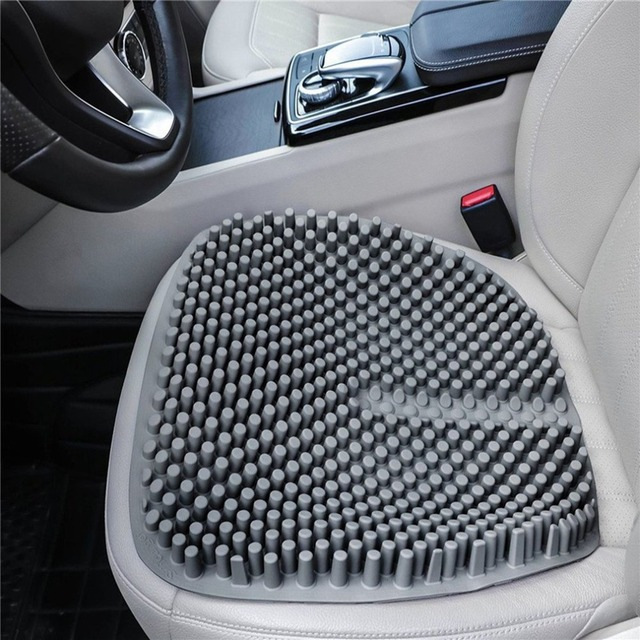 1PC Silica Gel Car Seat Cover 4 Seasons Breathable Massage Comfort Home Office Cushion Pad
